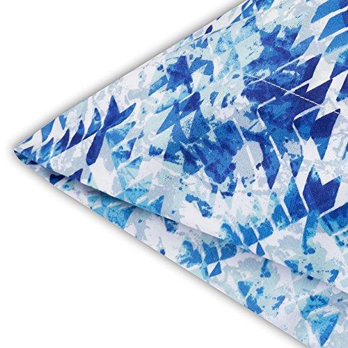 Monaco Taupe Geometric Pattern 6-Piece 1500 Thread Count Sheet Set