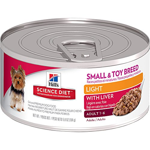 Hill's Science Diet Adult Small & Toy Breed Light with Liver Canned Dog Food, 5.8 oz, 24-pack
