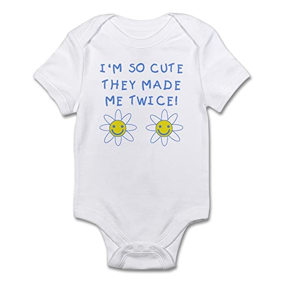 d270d03b6 CafePress - So Cute Made Twice TWINS - Cute Infant Bodysuit Baby ...