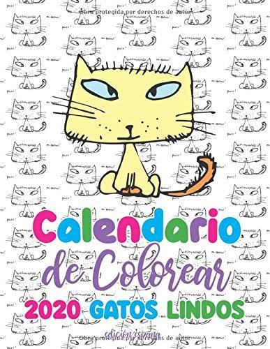 Calendario de Colorear 2020 gatos lindos edición españa: Amazon.es ...