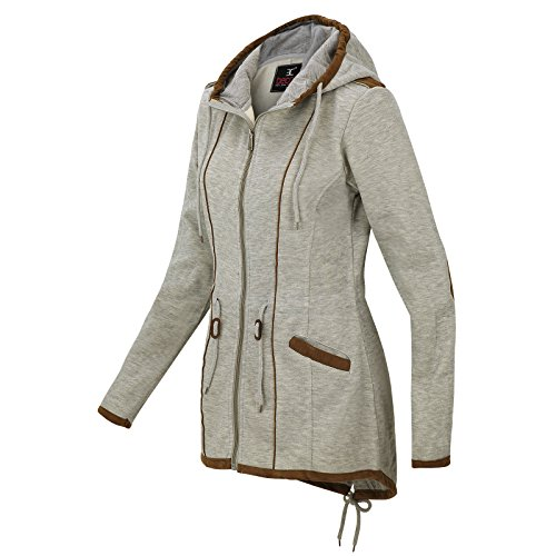 Winter Mantel Grey Light Bc 1510b Herbst Sweatjacke