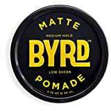 BYRD Matte Pomade - Medium Hold, Low Sheen, For All Hair Types, Mineral Oil Free, Paraben Free, Phthalate Free, Sulfate Free, Cruelty Free, Water Based, 3.35 Oz Larger Image