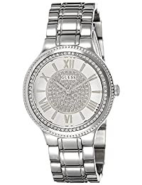 Guess Women's Madison 36mm Steel Bracelet & Case Quartz White Dial Analog Watch W0637L1