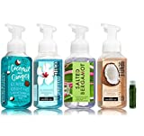 organic bath and body - COCONUT & GINGER, HONOLULU SUN, SALTED BERGAMOT, VANILLA COCONUT Bath & Body Works Set of Gentle Foaming Hand Soap - Pack of 4 with a Jarosa Bee Organic Peppermint Lip Balm by Jarosa Gifts