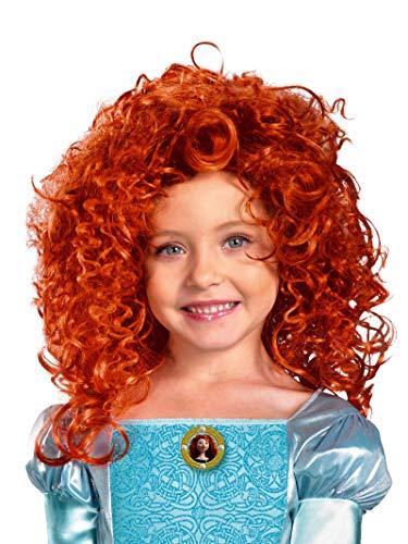 Brave Merida Wig, Red, One Size (Girls Kids Wigs)