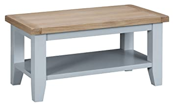 The Furniture Outlet Suffolk Grey Painted Oak Small Coffee Table
