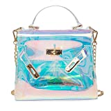 small jelly handbags - Qisc Womens Jelly Bag Purse Clear Stadium Crossbody Shoulder Messenger Bag Handbags Clutch Purse Tote (Clear)