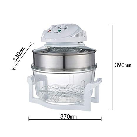 Lxxzz 17L Cocina Vaso Freidora, 1300W Multifuncional Casa Alta Capacidad Máquina de Papas Fritas Sin Humos Freidora eléctrica, Apagado automático, ...