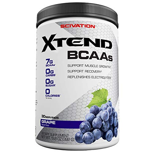 (Scivation Xtend BCAA Powder, Branched Chain Amino Acids, BCAAs, Glacial Grape, 30 Servings)