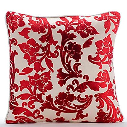 Amazon.com: Handmade Cayenne Red Throw Pillows Cover, Red ...