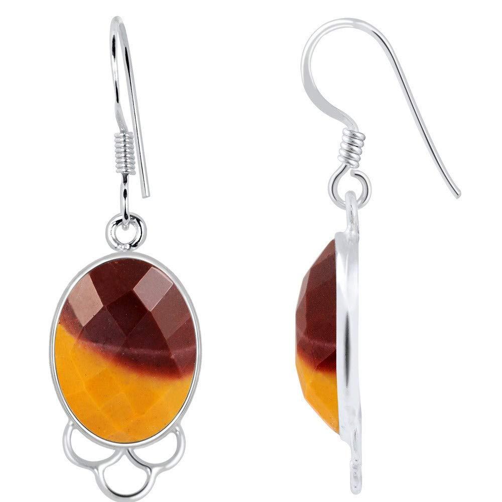 Nickel Free Wedding Earrings 14.6 Ctw Mookaite Jasper Jewelry By Orchid Jewelry : Hypoallergenic Dangle Earrings For Sensitive Ears Sterling Silver Bridal Dangling Earring |
