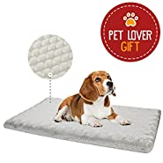 Animals Favorite Orthopedic Mattress for Pets, Egg Crated Dog Bed with Ultra Plush Memory Foam