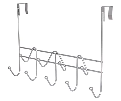 ESYLIFE Hooks Over The Door Hook Organizer Rack Hanging Towel Rack Over Door,  9 Hooks