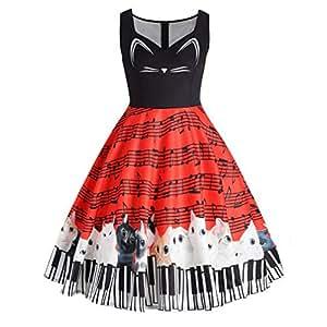 Faldas, Challeng ropa de moda a la calle Vestido elegante mujer tenedor lado Vestido de bolsillo de manga corta vestido de fiesta elegante falda de vestir (m, azul) (3xl, rojo)