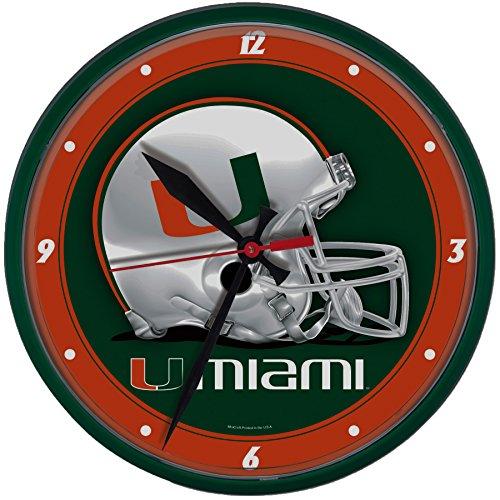 University of Miami Hurricanes Football Wall Clock, 12.5 inches (Miami Hurricanes Clock)