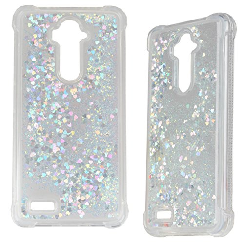 ZTE ZMax Pro Case, ZTE Blade X MAX Case, iYCK Soft Bumper Floating Liquid Quicksand Bling Glitter Case Cover for ZTE Z983/Imperial Max Z963U/Kirk Z988/Grand X Max 2/Max Duo LTE/Carry (Soft Liquid)