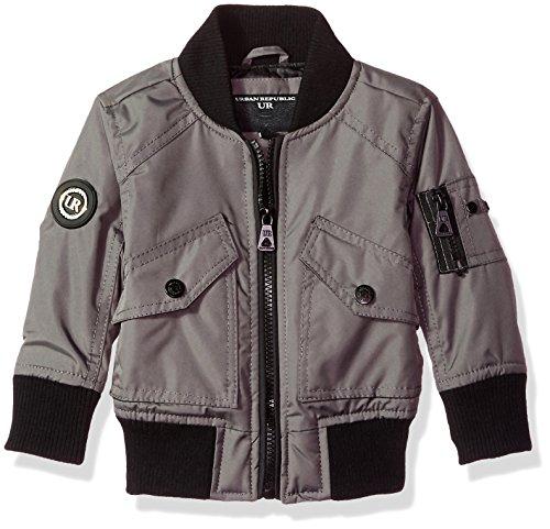 - Urban Republic Baby Boys Ballistic Bomber Jacket, darkcharcoal, 18M