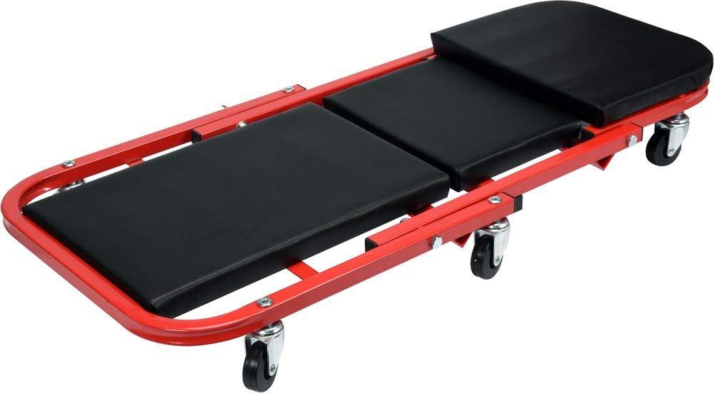 Yato - 2 en 1 Tabla de montaje Roll + taburete Taller (150 kg 6 leichtgängige 360 ° ruedas Taller - Tumbona montaje montaje Roll Camilla: Amazon.es: ...