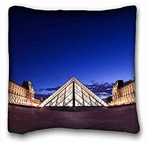Custom ( City night New York megalopolis heart USA Brooklyn Bridge ) Soft Pillow Case Cover 16*16 Inch (One Sides)Zippered Pillowcase suitable for California King-bed PC-White-4624