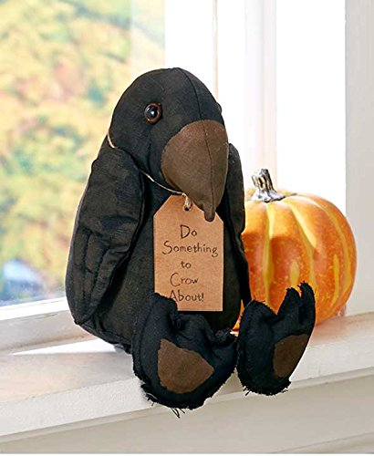 Doll Halloween Decor (The Lakeside Collection Primitive Halloween Stuffed Crow Shelf Sitter)