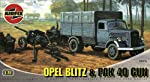 Airfix A02315 1:76 Scale Opel Blitz and Pak 40 Military Vehicles Classic Kit Series 2 by Hornby