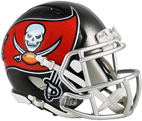 (Sports Memorabilia Riddell Tampa Bay Buccaneers Revolution Speed Mini Football Helmet - NFL Mini Helmets)