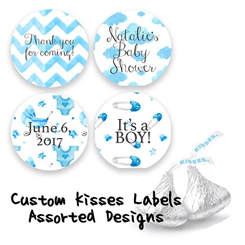 Kisses Stickers Its a Boy Baby Shower SET OF 324 Baby Shower Stickers PERSONALIZED Hershey Kisses Labels
