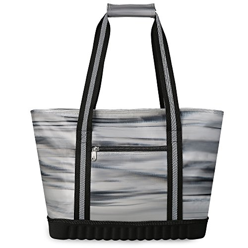 CTOTENICE Soft Cooler Bag Insulated Picnic Basket Collapsible Cooler Tote Thermal with Hard Mode Base(Abstract)