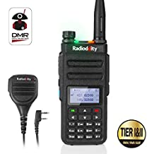Radioddity GD-77 Dual Band Dual Time Slot DMR Digital/Analog Two Way Radio 136-174/400-470MHz 1024 Channels Ham Amateur Radio Compatible with MOTOTRBO, Free Programming Cable and Remote Speaker