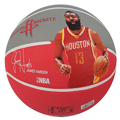 Spalding NBA Player Basketball - James Harden (Red/Grey)