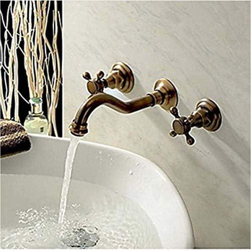 ZJN-JN 蛇口 蛇口ウォールデュアルアンティークブラス仕上げの浴室のシャワーの蛇口のミキサーのタップを処理マウント 台付