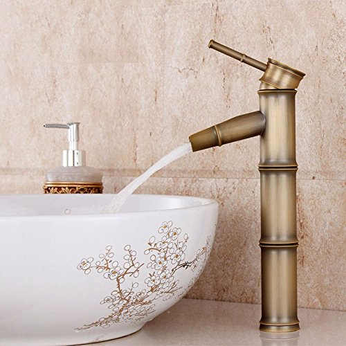 AWXJX Washroom Sink Mixer Tap copper European retro style Hot and cold Brushed Washbasin Sit Cold alone ceramics