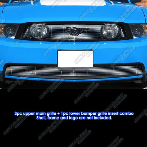 2010-2012 Ford Mustang GT V8 Billet Grille Grill Combo Insert # (Gt Lower Billet)