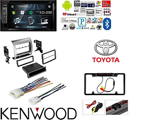 Touchscreen CAR DVD Bluetooth Stereo Rear View Camera Single Double DIN Dash Kit Harness Combo for 2005-2011 Toyota Tacoma ()