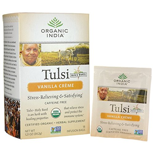 Organic India USA - Tulsi Vanilla Creme Tea, 18 bags by ORGANIC INDIA