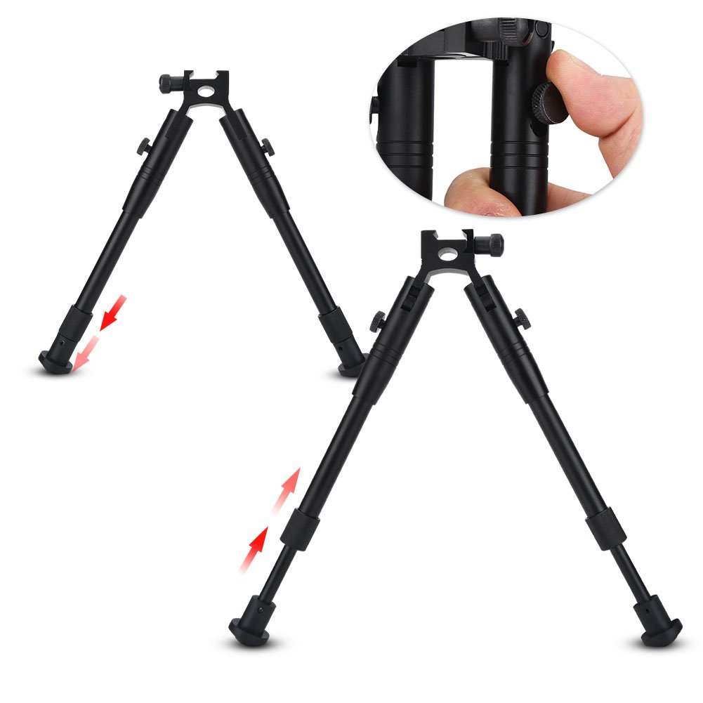 Hunting Rifle Bipod Tactical 6'' To 9'' Bipod Adjustable Spring Return Bipod Swivel Holder Mount for Rifle Hunting by Vbestlife (Image #1)