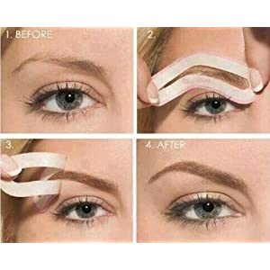 Pochoirs à Sourcils - kit de 4 pochoirs de Boolavard® TM