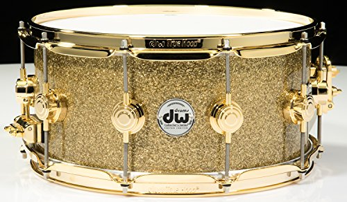 DW Collector's Series Snare Gold Glass Gold Hardware (6.5x14)