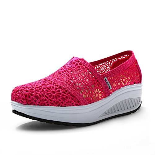 Slip by Womens Btrada on Soft Sneakers Casual Travel Fashion Shoes Pink Comfortable tftU1q7