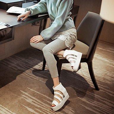 Botas de mujer Verano Gladiator Comfort polipiel vestir casual plataforma conjunta dividida Zipper Black