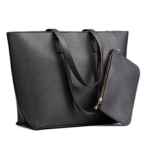 Laptop Tote Bag, Cossils Two Way Use Design Leather Tote Bag Perfect for Work, Travel, School, Business, Office