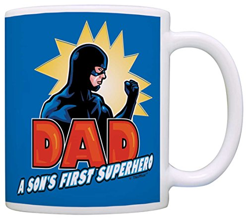 [Fathers Day Gifts for Dad a Son's First Superhero Gamer Dad Gift Coffee Mug Tea Cup Blue] (Easy To Make At Home Superhero Costumes)