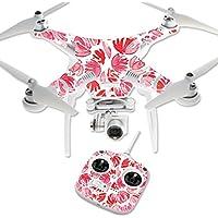 MightySkins Protective Vinyl Skin Decal for DJI Phantom 3 Standard Quadcopter Drone wrap cover sticker skins Red Petals
