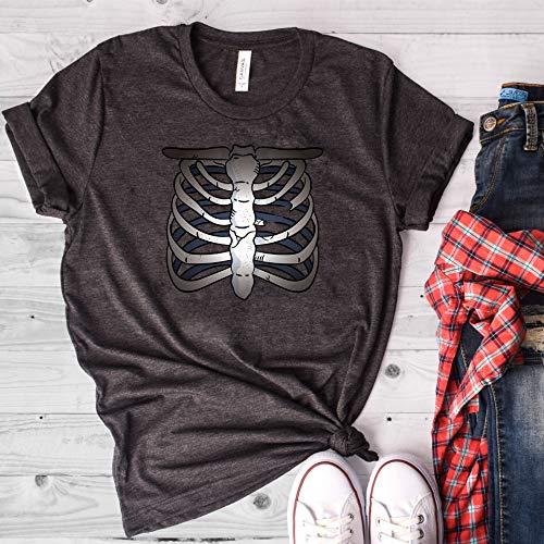Skeleton Rib-Cage, X-Ray Shirt, Skeleton Shirt, Halloween