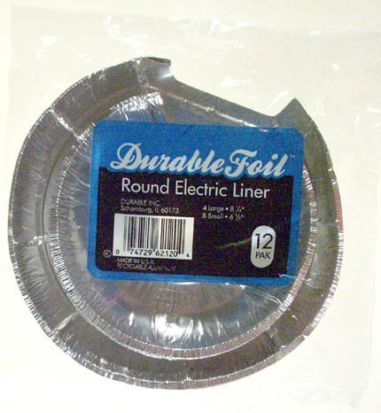 Durable Foil™ Round Electic Burner Liners (Round Electric Burner)