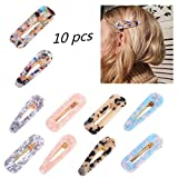 Acrylic Resin Hair Clips, Beyond 10 Pcs Fashion Hair Barrettes Geometric Alligator Hair Clips for Party Daily Hairstyling