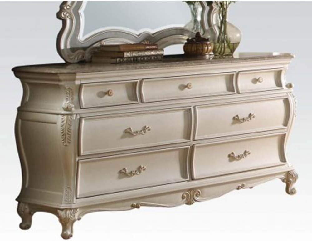 Zebery Acme Chantelle Dresser in Pearl White 23545
