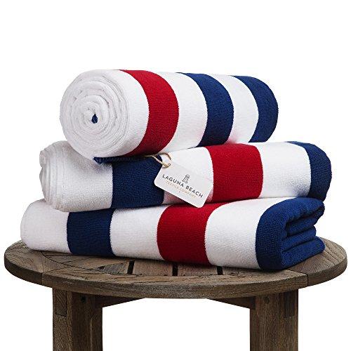 Oversize Plush Cabana Towel by Laguna Beach Textile