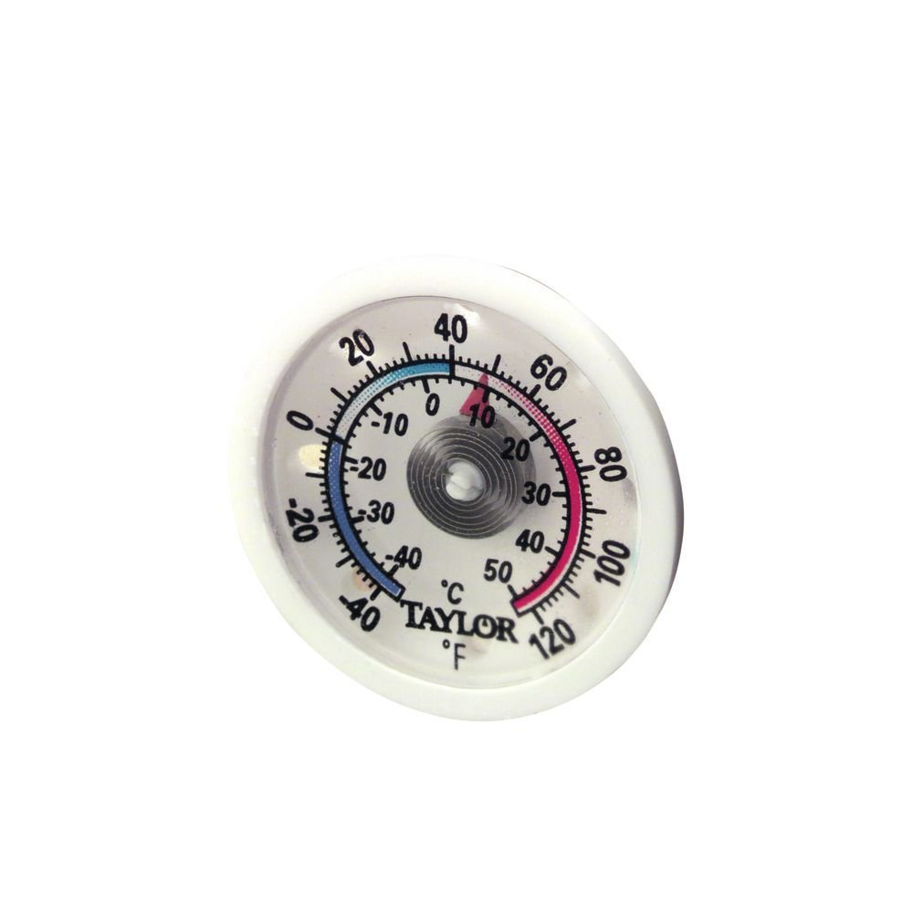 Taylor Precision 5982N Milk Beverage Cooler Thermometer (Includes: Adhesive and Magnetic Backing), NSF