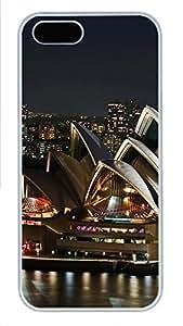 iPhone 5 5S Case Brilliantly Illuminated Sydney Opera House PC Custom iPhone 5 5S Case Cover White